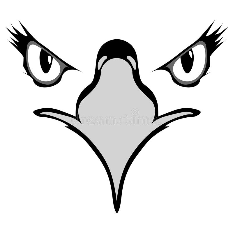 Eyes of eagle vector illustration