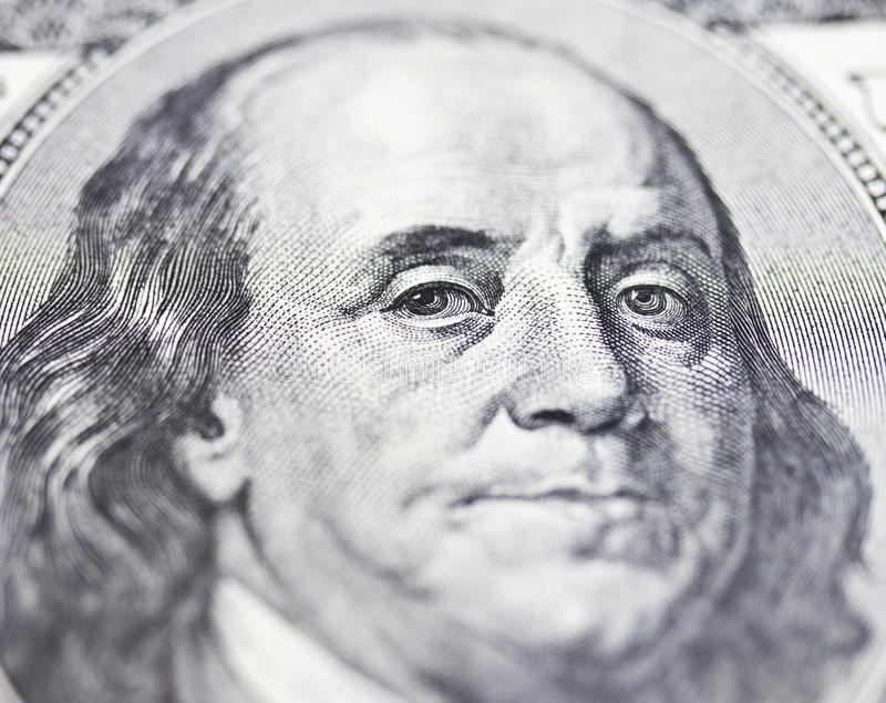 Download The eyes of Franklin stock photo. Image of balance, monetary - 39194582