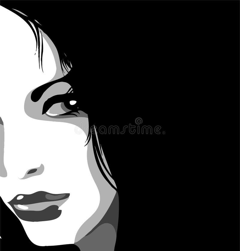 eyes henne looken stock illustrationer