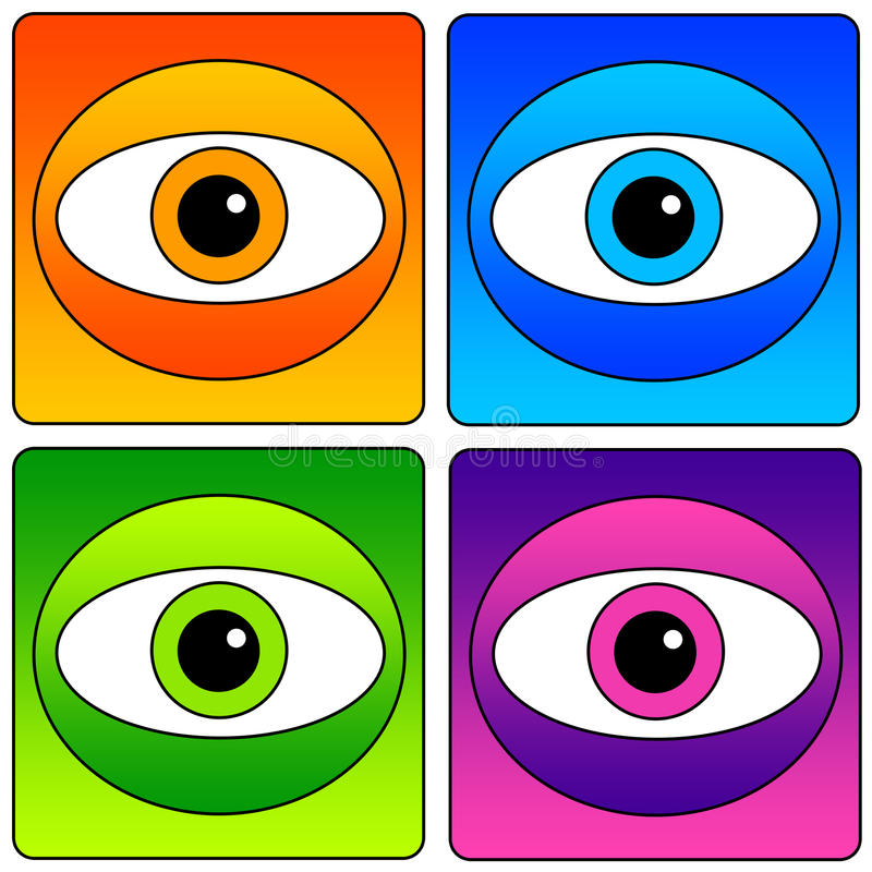 Download Eyes icons stock illustration. Illustration of expression - 27745720