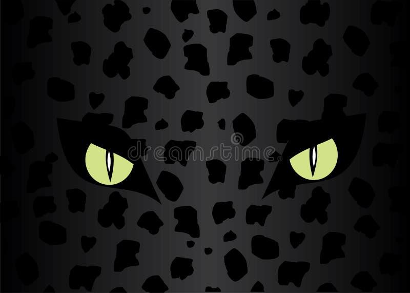 Eyes of the jaguar. royalty free illustration
