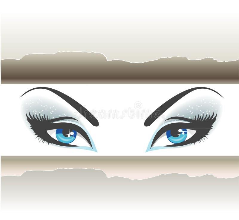 eyes kvinnor stock illustrationer
