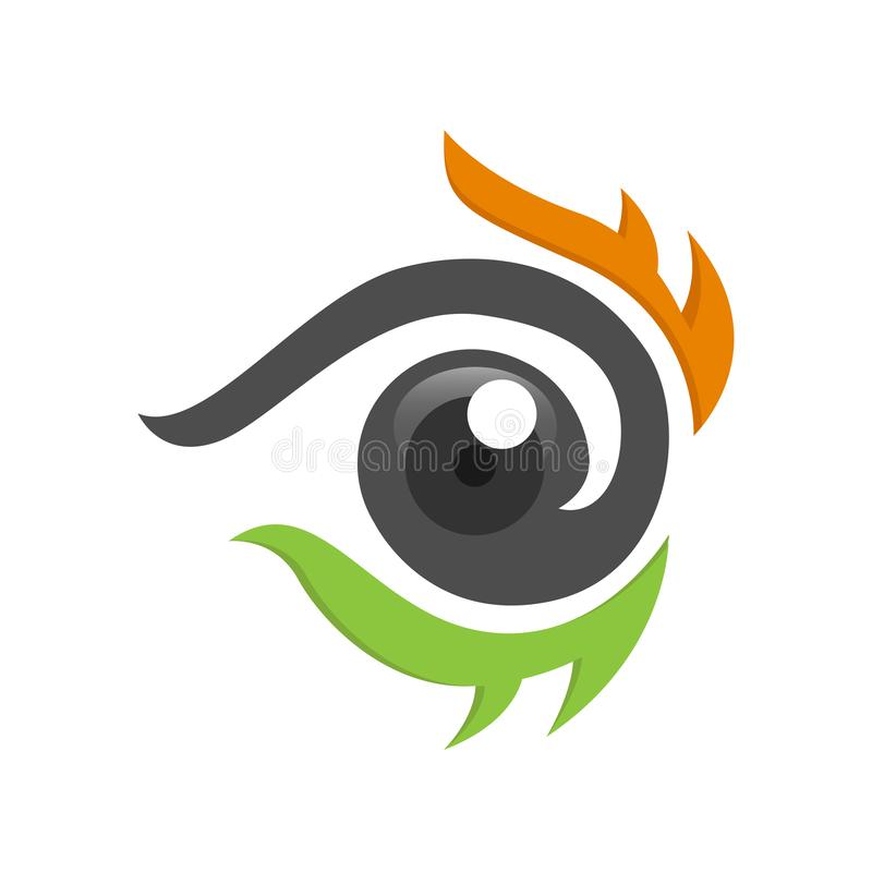 Eyes Logo vector template, circle Vision Logotype concept, optic and eye lens logo vector. Healthy eyes, and for clear sight. good for modern company stock illustration