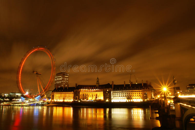 Download The Eyes of London, UK editorial photo. Image of night - 28427726