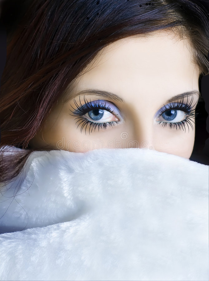 Download Eyes With Long Eyelashes Royalty Free Stock Photography - Image: 7580727