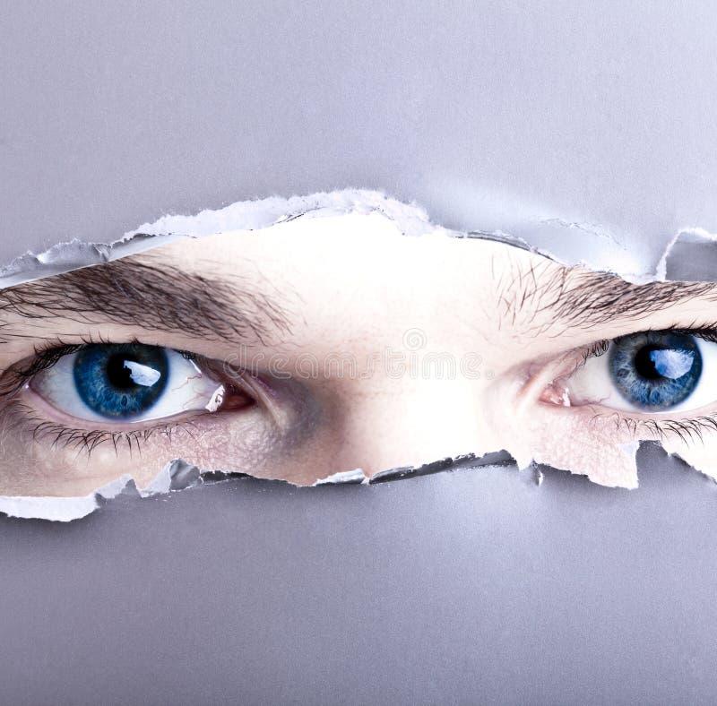 Free Eyes Looking Through Gap Stock Photo - 22790920