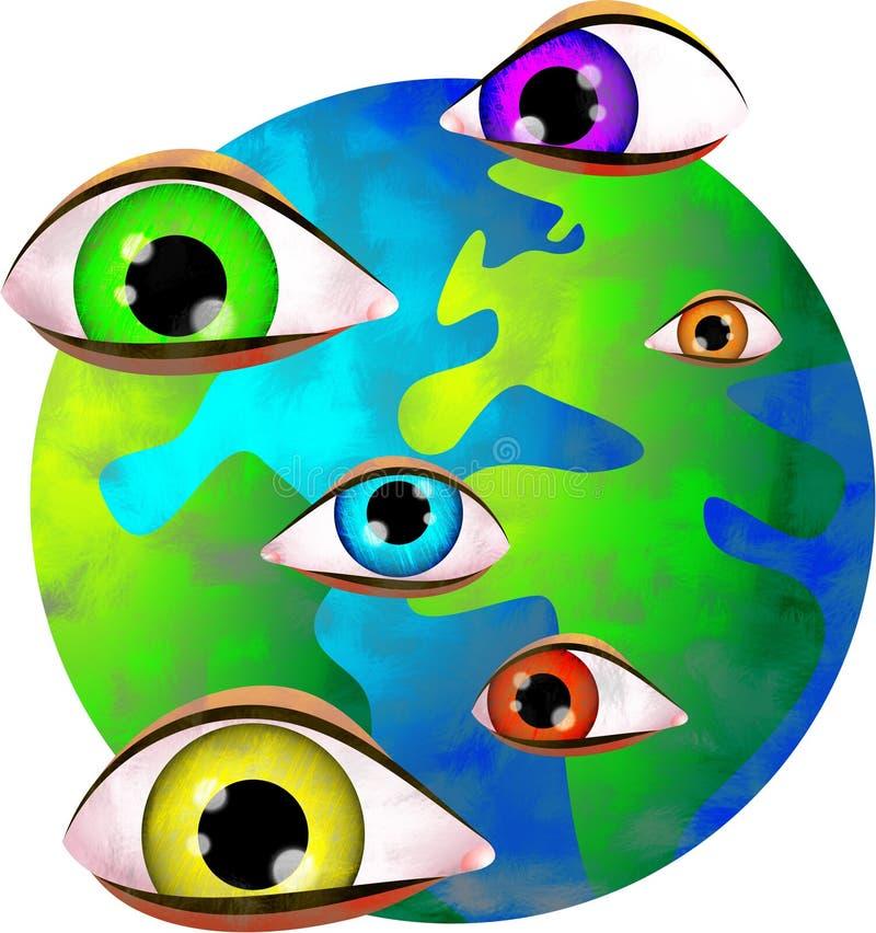 eyes lorden royaltyfri illustrationer