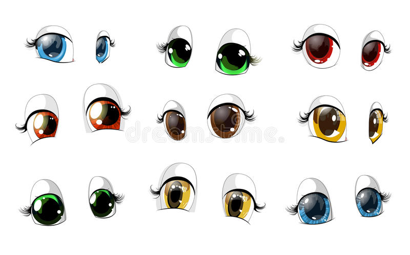 The eyes vector illustration