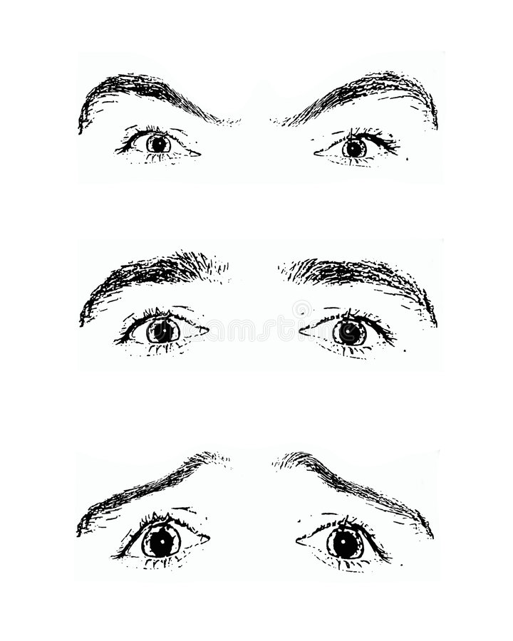 Eyes - a mirror of soul stock illustration