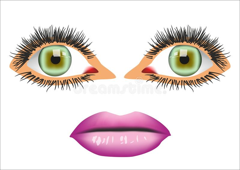 Download Eyes and mouth stock vector. Illustration of closeup - 14724889