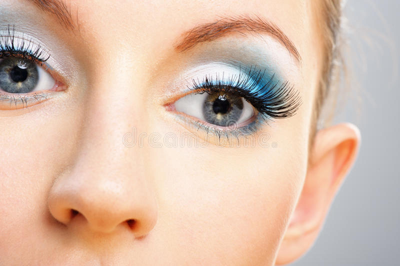 Download Eyes And Nose Of Beautiful Young Stock Photo - Image of iris, human: 19888850