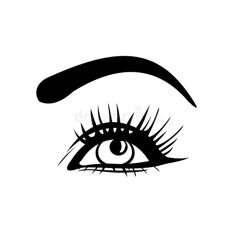 Eyes o ícone Eyes o símbolo Projeto liso Ilustração do vetor ilustração royalty free