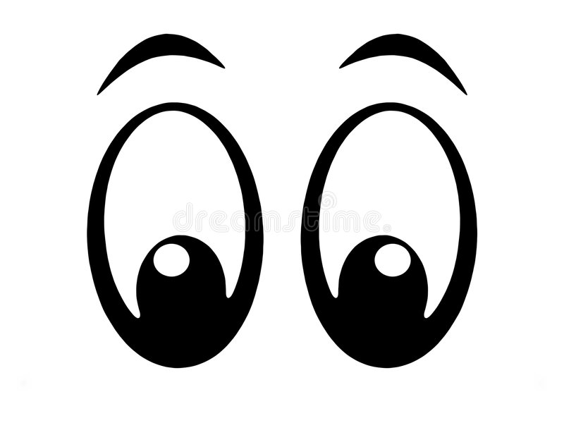 Eyes o bw ilustração royalty free