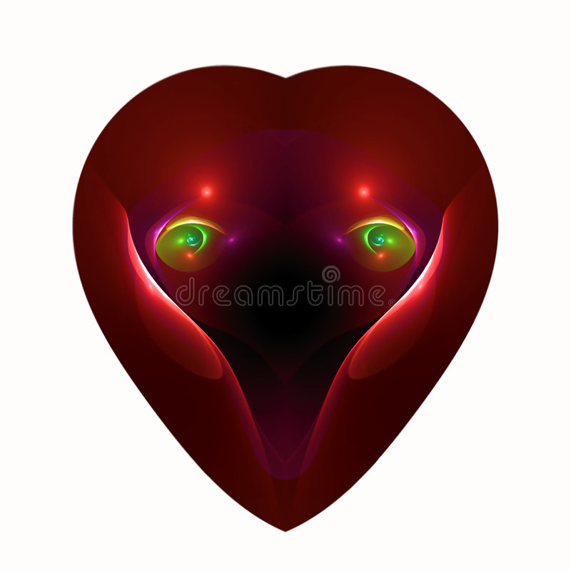 Free Eyes Of Love In A Heart Stock Photography - 3963442