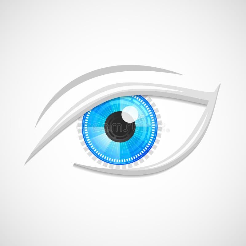 Eyes a olá!-tecnologia do ícone ilustração stock