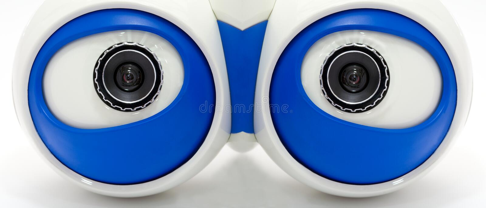 Download Eyes Of The Robot. A White Robotic Eyes Looking Stock Image - Image: 18444333