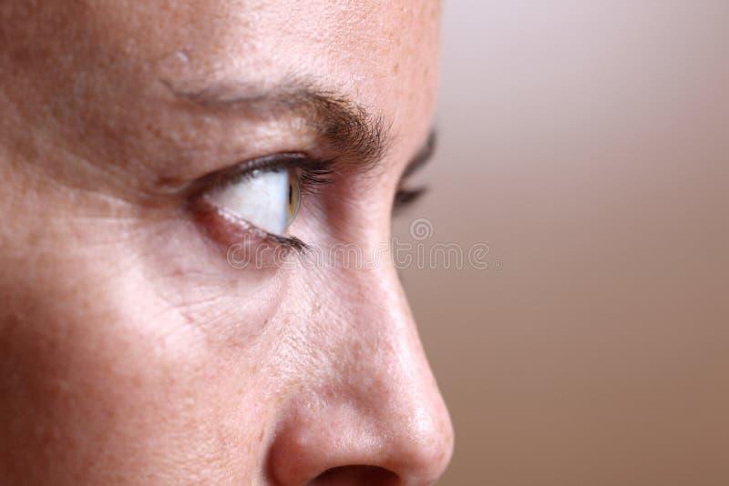 eyes s-kvinnan arkivfoton