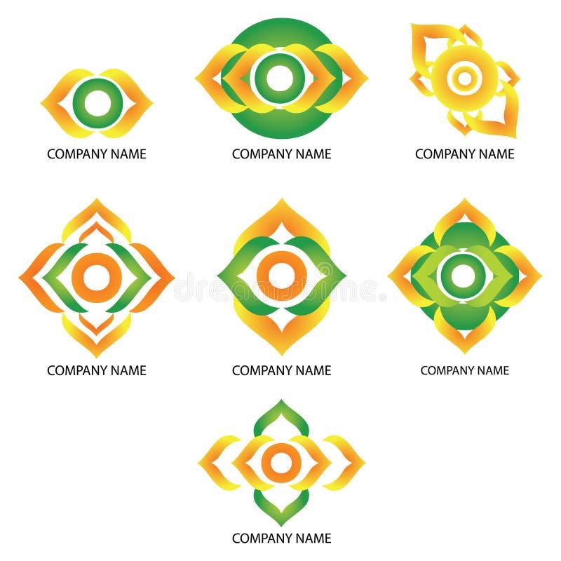 Company logos with abstract conceptual shapes royalty free stock photos