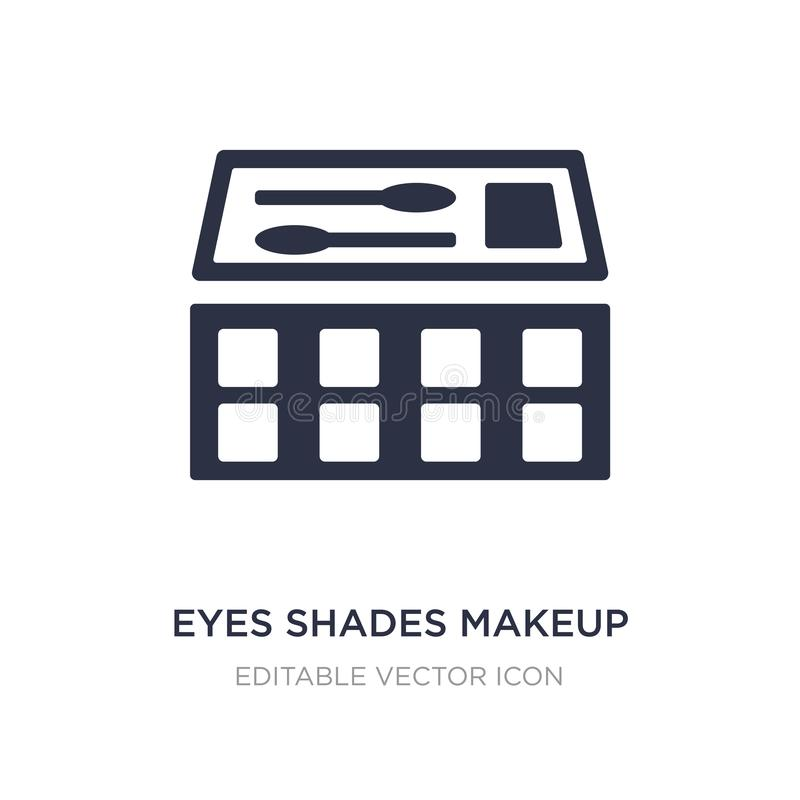 eyes shades makeup icon on white background. Simple element illustration from General concept vector illustration