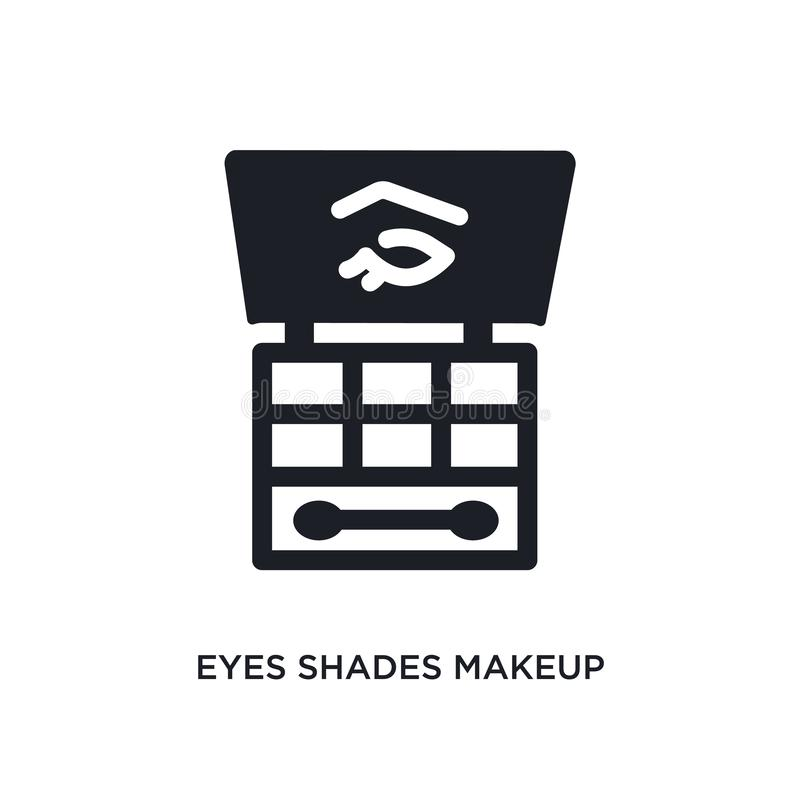 eyes shades makeup isolated icon. simple element illustration from woman clothing concept icons. eyes shades makeup editable logo stock illustration