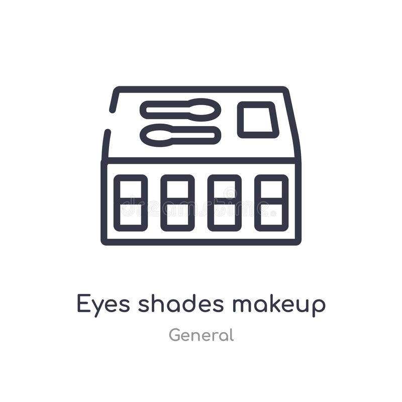 eyes shades makeup outline icon. isolated line vector illustration from general collection. editable thin stroke eyes shades stock illustration