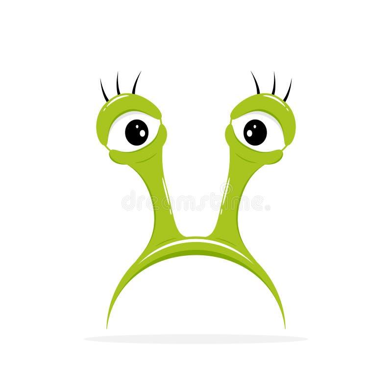 Eyes of a Slug. Mask with eyes of a Slug isolated on white background, illustration vector illustration