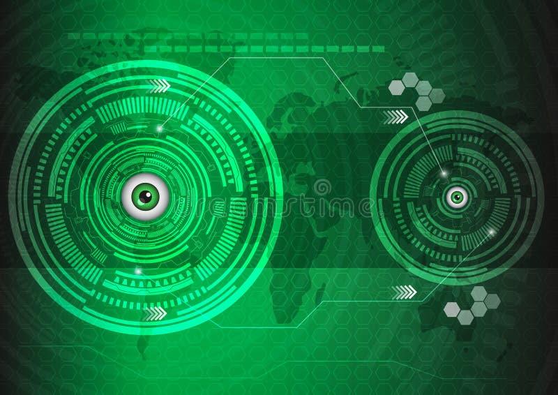Eyes a tecnologia ilustração stock