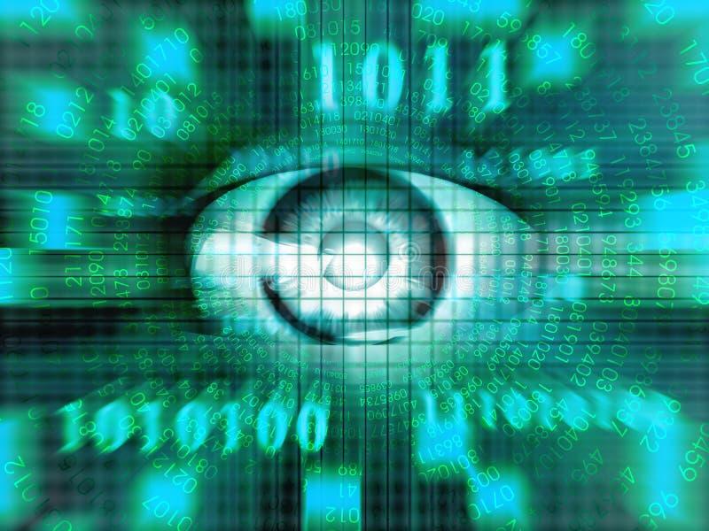 eyes teknologi royaltyfri illustrationer