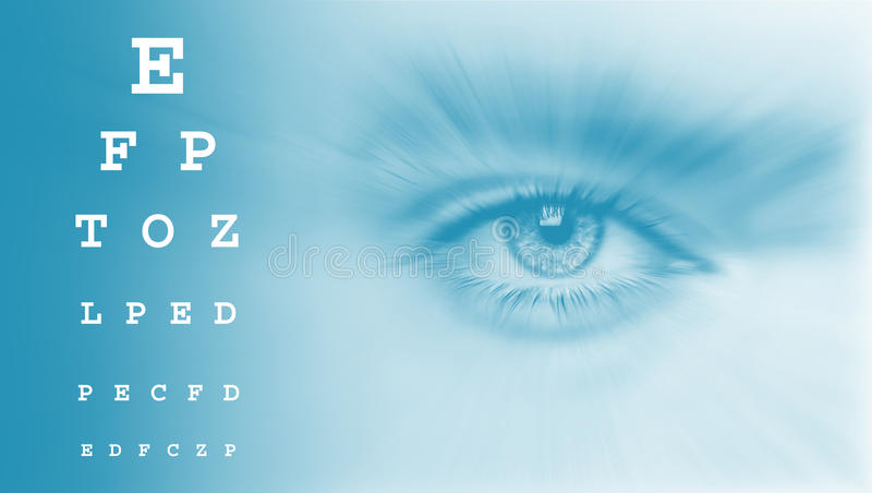 Eyes test chart. Vision test chart agains royalty free illustration