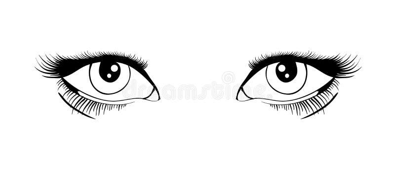 eyes vektorn stock illustrationer