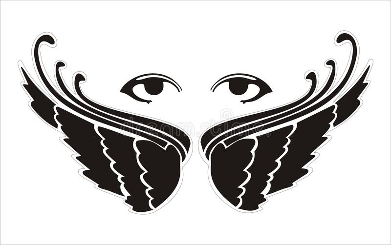 Download Eyes wings stock vector. Image of angel, sensual, interesting - 12482723