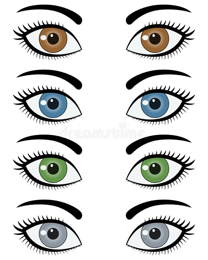 Eyes of Woman Set stock illustration