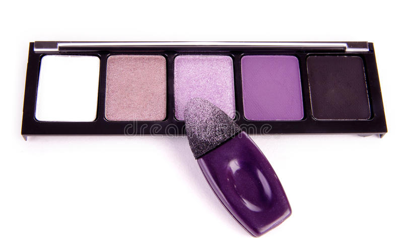 Eyeshadow with applicator stock photography