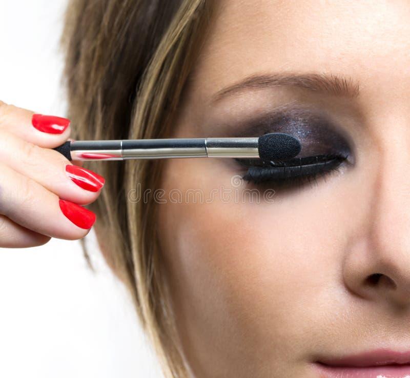 Eyeshadows Oko cienia muśnięcie obraz stock