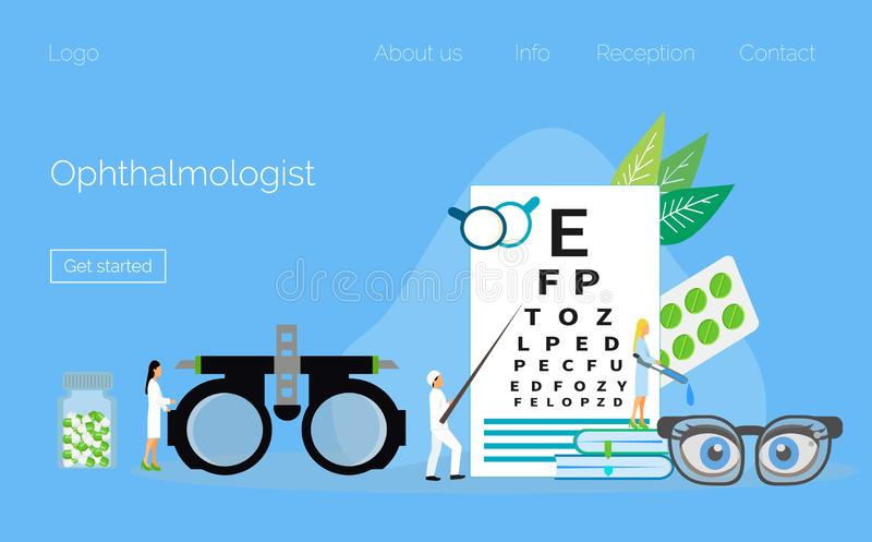 Eyesigh medico dell'oftalmologo royalty illustrazione gratis