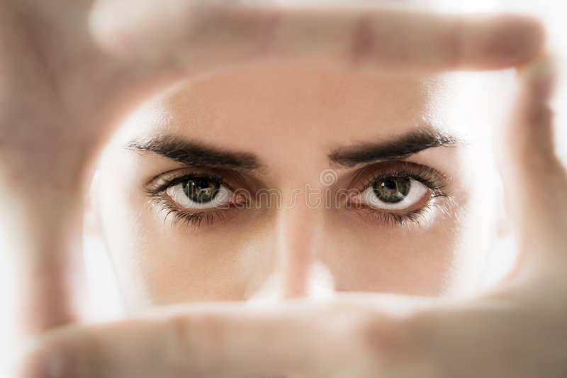 Download Eyesight stock photo. Image of hands, fingers, image, eyebrows - 7095160