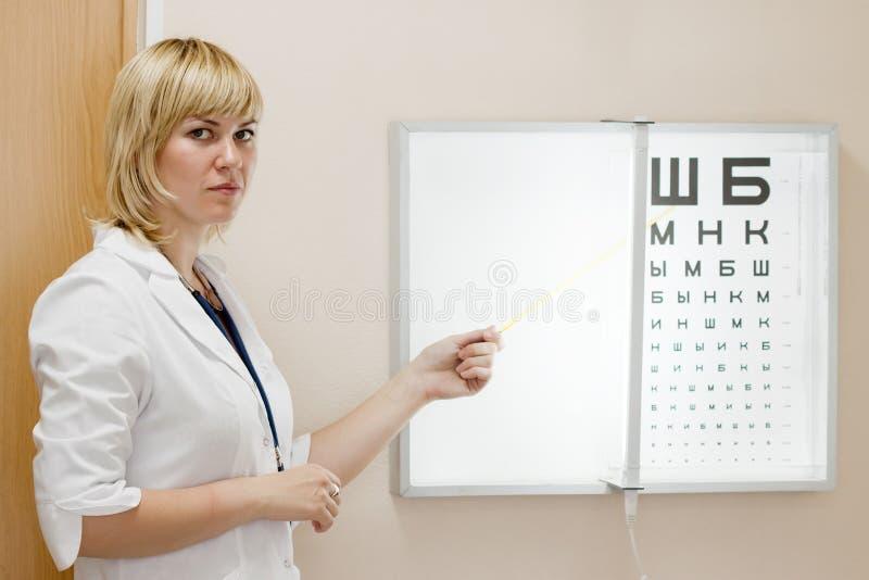 Eyesight do teste do oftalmologista imagens de stock royalty free