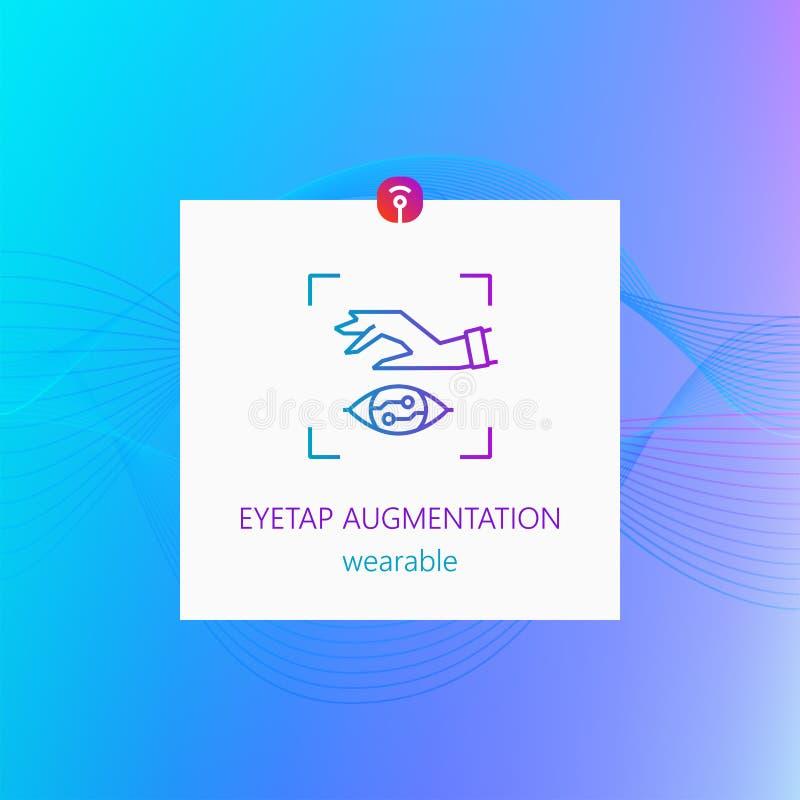 Eyetap augmentacja noszona ilustracja wektor