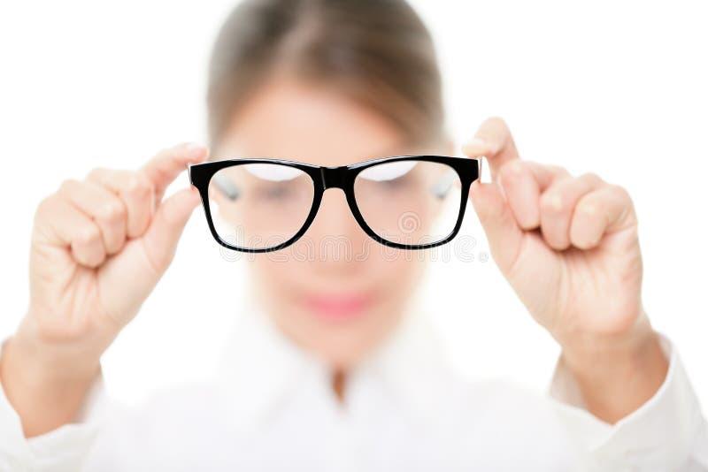 eyewear玻璃眼镜师陈列 免版税库存照片