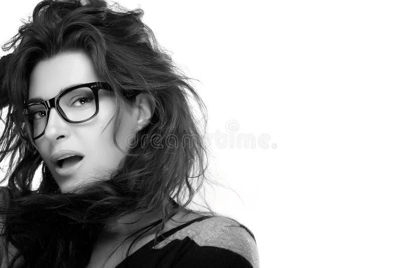Eyewear à la mode frais Mannequin Girl With Eyeglasses de beauté photos stock