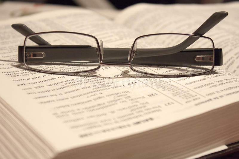 Download Eyewear on a Bible stock photo. Image of literature, studying - 28516128