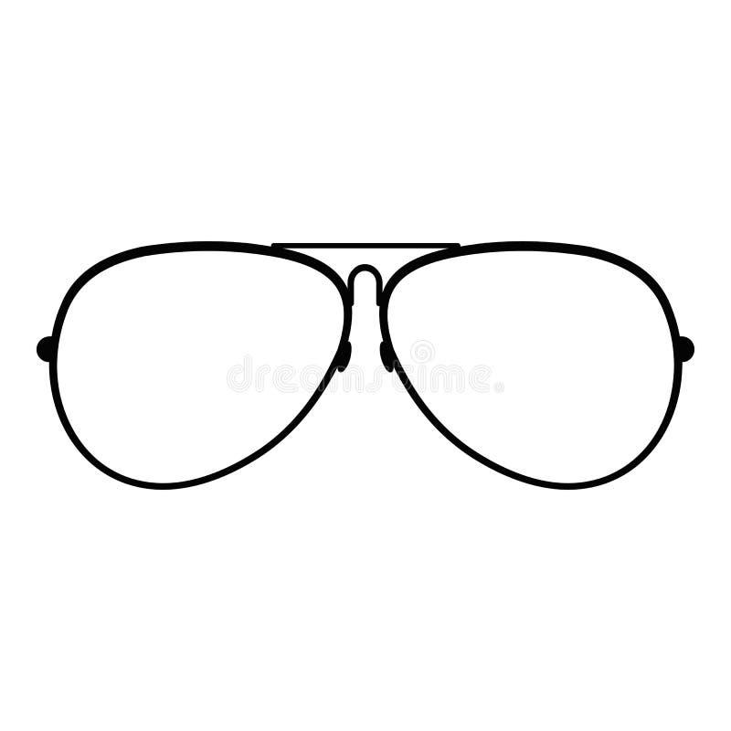 Eyewear icon, simple style. Eyewear icon. Simple illustration of eyewear icon for web stock image
