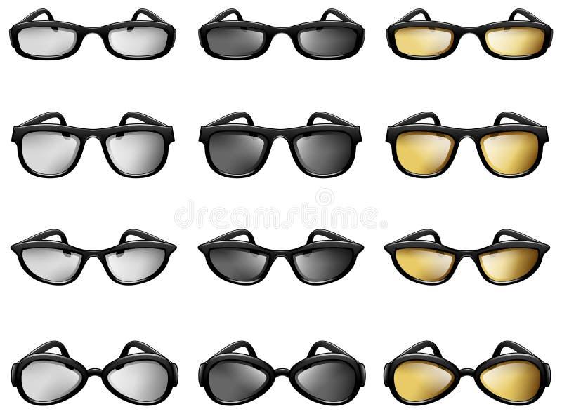 Eyewear, monóculo, Sunglass, optometria, acessórios de forma ilustração do vetor