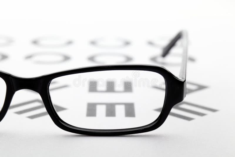 Eyewear och eyechart arkivbilder