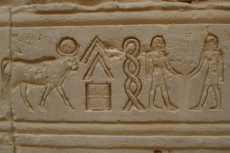 Eygpt hieroglyphics royalty free stock photography