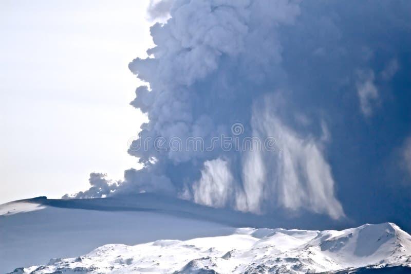 eyjafjallajokull火山 免版税库存图片