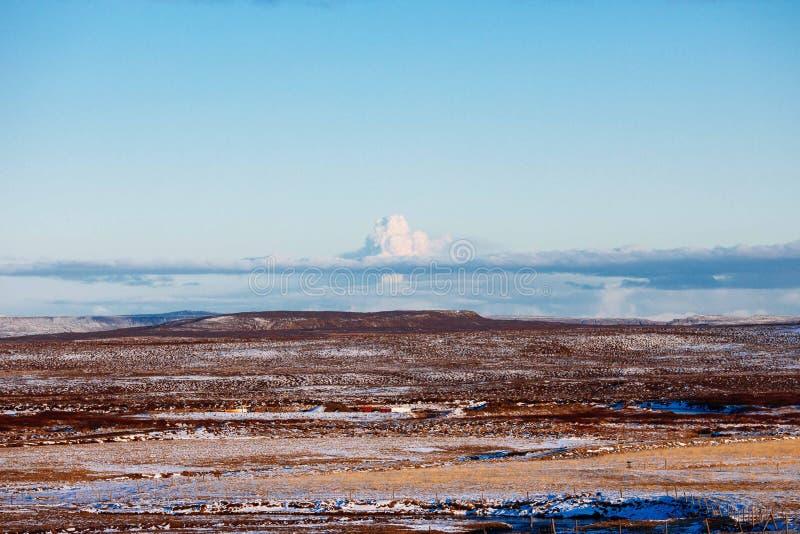 Eyjafjallajokull glacier in Iceland stock images