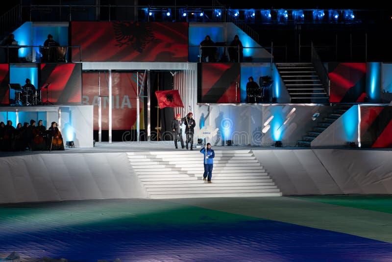 Eyof 2019 Otwiera Europejskiej młodości Olimpijskich festiwali/lów fotografia royalty free