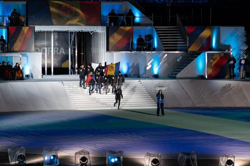 Eyof 2019 Otwiera Europejskiej młodości Olimpijskich festiwali/lów zdjęcie stock
