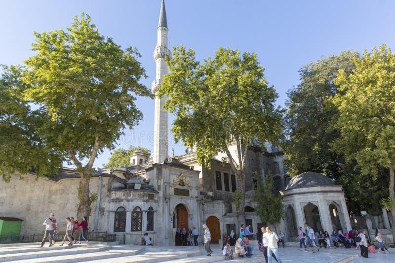 Eyup Sultan Mosque Istanbul Turkey royaltyfria bilder